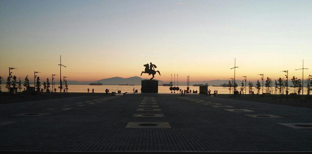 No Filter Thessaloniki Noon Sky Alexanderthegreat Port Walking