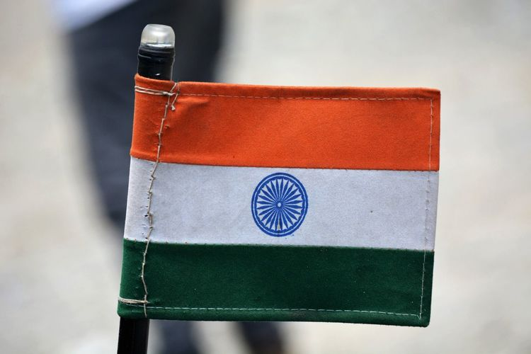 Close-up of indian flag