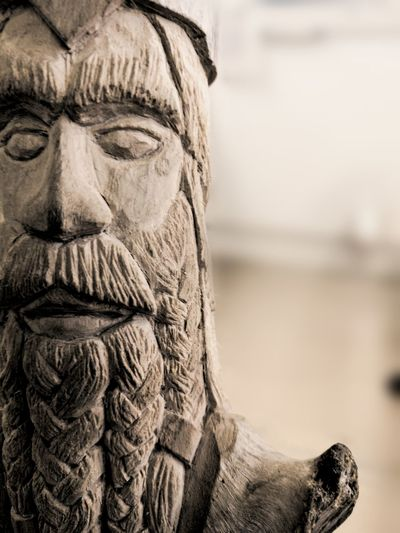My first carved Dvarven King. Carving Carved Handcraft Handcrafted Wood Wood - Material Wooden Human Face Portrait Close-up Sculpture Sculpted Carving - Craft Product Carving Art Male Likeness
