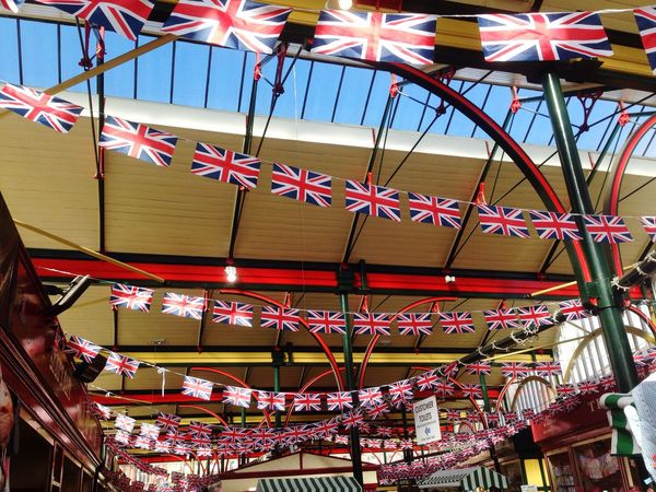 Historical Sights Flying the flag on market day