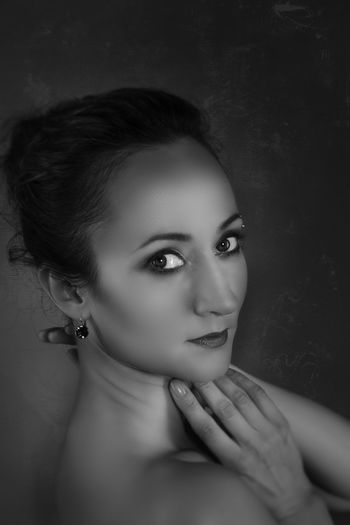 Ballerina Blackandwhite Close-up Cute Eyes Girl Human Face Portrait Fine Art Photography