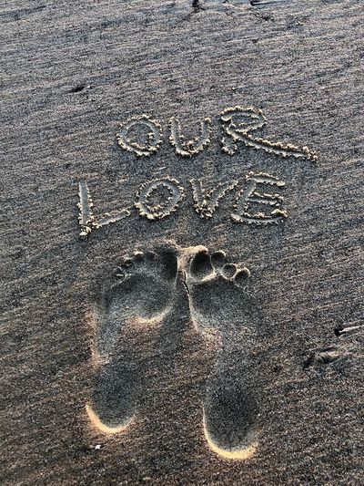 Our feet our journey for life No People Art And Craft Sand Creativity Land Day Nature