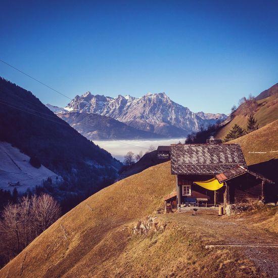 alps switzerland Tranquil Scene Clear Sky Winter Landscape Peaceful First Eyeem Photo