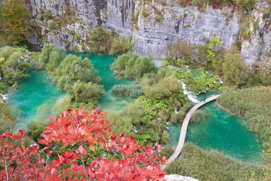 Plitviče Lakes National Park Autumn Colors Colors Of Autumn Croatia Exploring New Ground Fall High Angle View Landscape Landscape_Collection Landscape_photography Lush Foliage National Park Nature Nature Photography Nature_collection Naturelovers Naturephotography Plitvice National Park Scenics Travel Travel Destinations Travel Photography Turquoise View From Above Water Waterfront My Year My View