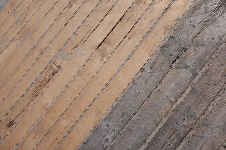 Detail shot of wood paneled floor