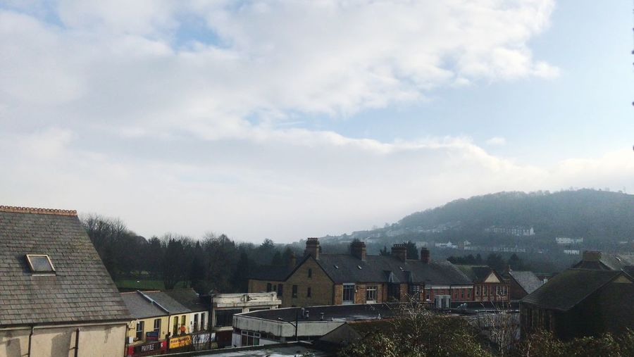 Pontypridd Ponty Pontypridd Wales Architecture Building Exterior Built Structure Sky Cloud - Sky Building Residential District Tree House City Nature Plant Day No People Roof Outdoors Row House High Angle View Town