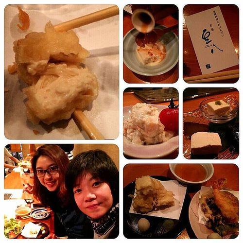 เมนูขึ้นชื่อของเกียวโต Kyoto Mamehachi Ponto -cho เมนูเต้าหู้ สารพัดอย่างเมนูจากเต้าหู้ โดยเฉพาะฟองเต้าหู้เทมปุระ Yuba tempura อร่อยเหาะ 京都豆八 豆腐料理 GMjourney 我的蚂蚁 Tofucourse