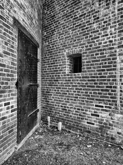 Architecture B&w B&w Architecture B&W Collection B&w Photography Brick Wall Building Exterior Built Structure Exterior GetOlymp Getolympus History Joe DiD Joe Didario Joedidariophotography Military Military Architecture Military Base Old Olympus OM-D EM-1 The Past Weathered Weathered