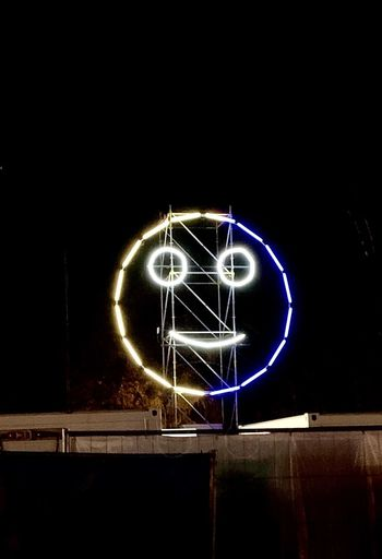 Smile :) Night Illuminated Long Exposure Communication Sign Glowing Creativity Motion Light Painting No People Neon Positive Emotion Light Trail Text Love Blurred Motion Copy Space Arts Culture And Entertainment Light Art And Craft