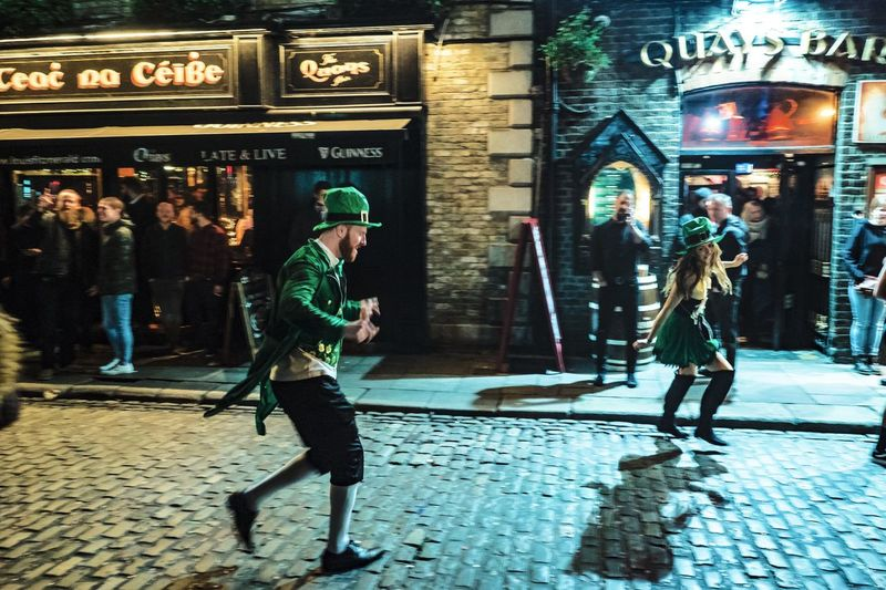 Temple Ball // Dublin // Jan'18 Streetphotography Street Candid Dance Temple Bar Ireland Dublin Full Length Building Exterior Men Outdoors Architecture Built Structure City Night Lifestyles Real People People