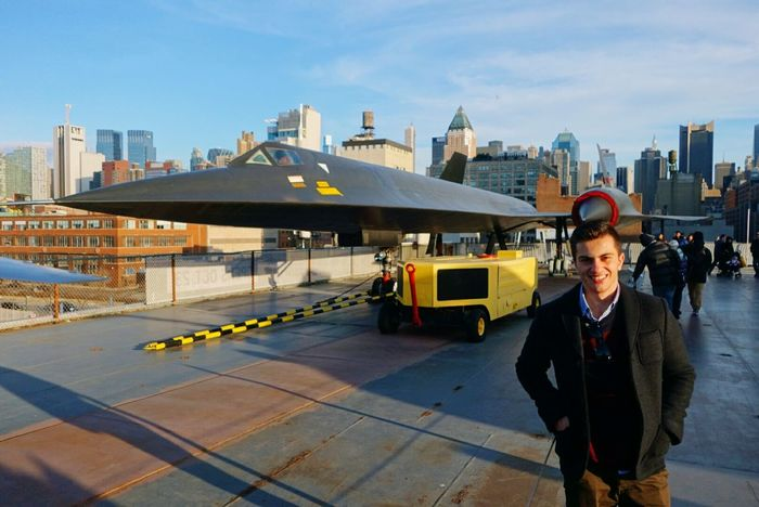 A-12 Blackbird Planes Cityscapes Newyork Urban Geometry Intrepid