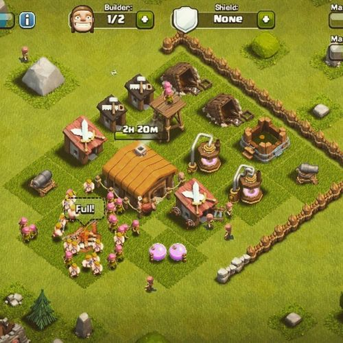 My clash of clans Clashofclans Myclashofclans Simulationgames Androidgames Fightinggames Wargames Addictivegame Constructiongames Clan Gems Insecured Townhall Fotogeek15