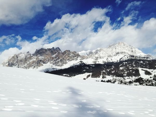 Cortina D'Ampezzo Cold Temperature Snow Snow ❄ Mountain Day Outdoors Landscape Mountain Range Beauty In Nature Sky No People