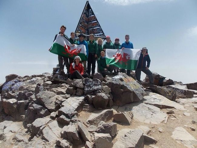 """Top of the world ma"" they made it! The summit of Mount Toubkal, so proud of them!! Hello World Check This Out Happy Expedition Kids Enjoying Life"