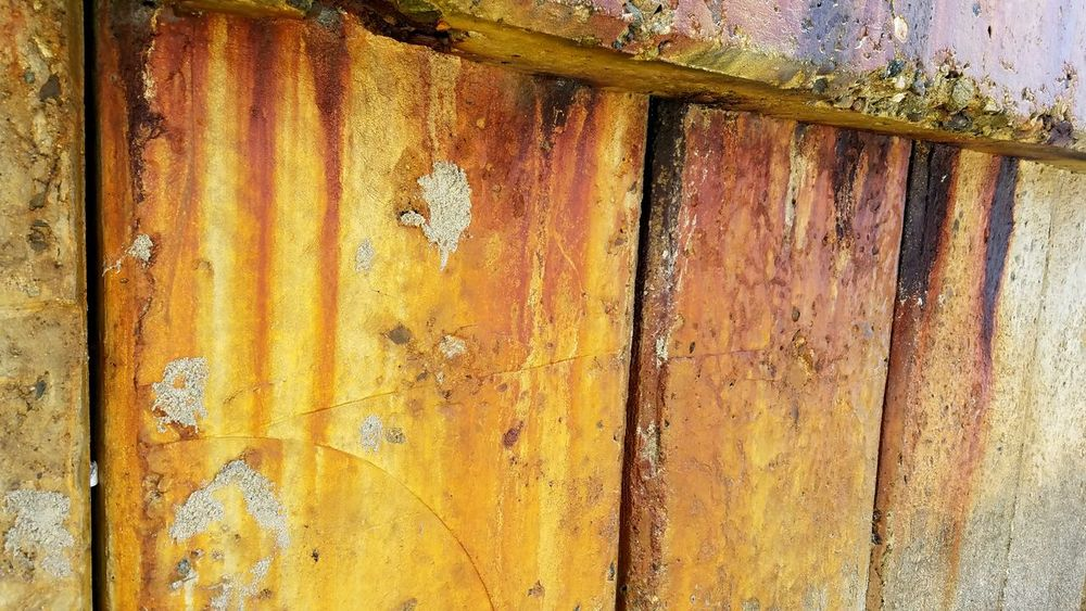 Backgrounds Full Frame Textured  Yellow Pattern Close-up Weathered Rough No People Breakwall Multi Colored Copy Space Bold Dramatic Wall Sections Lines Vertical Gold Weathered Outdoors Day Indoors  Architecture