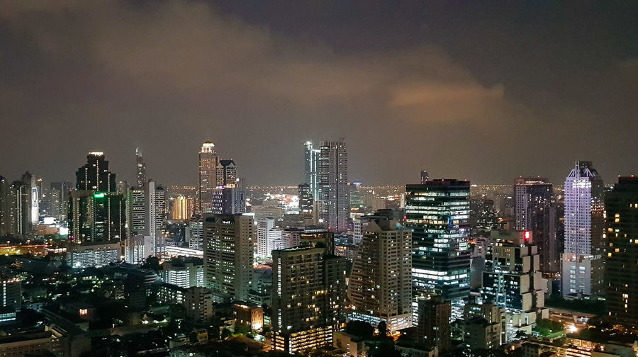 Bangkok Bangkok Thailand. Architecture Building Building Exterior Built Structure City Cityscape Crowd Crowded Financial District  Illuminated Light Modern Nature Night Office Building Exterior Outdoors Residential District Sky Skyscraper Spire  Tall - High Tower Urban Skyline