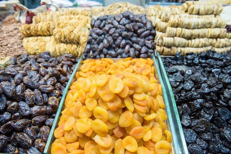 Collection of various dried fruits in the oriental market Food Food And Drink Choice Variation Freshness No People Market Market Stall Marketplace Bazaar Yehuda Market Dried Fruit Dried Fruits Dried Fruits, Nuts Nuts Tasty Vitamin Vegan Healthy Food Dried Apricots Oriental Middle East Variations Israel Souvenir