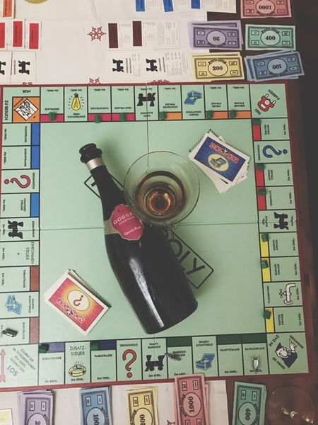 Photograph No People Close-up Table Monopoly Gosset Champagner Champagne Rosé Rose Champagne Drink And Play Indoors  Christmastime Whatidoatchristmas Family Time Quality Time