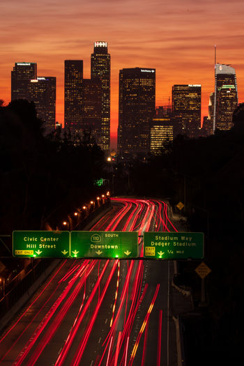 Downtown los angeles flow of traffic...