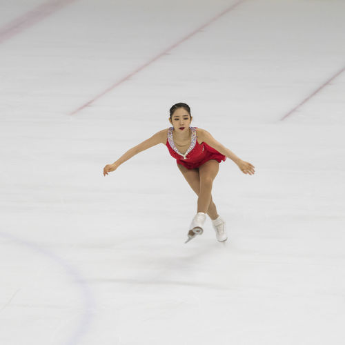 Choi Dabin, A Korean Female Figure Skating Star Asian  Choi Dab Figure Figure Skating Korean Winter Sport Athelete Full Length One Person Real People Young Adult Young Women