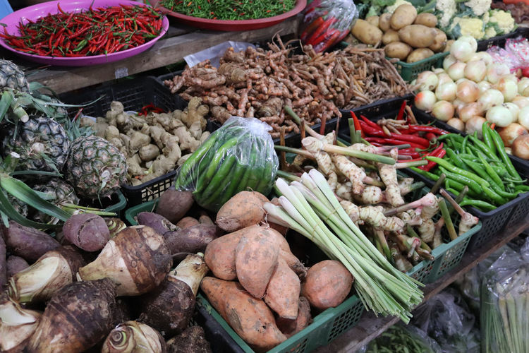 Fresh food at the market  thai style