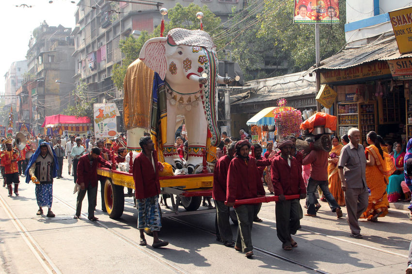 Annual Jain Digamber Procession in Kolkata,India on Nov 28,2012. ASIA Calcutta Celebrate Ceremony City Culture Cultures Devotion Digamber Festival God India Jain Jainism Joy Kolkata Procession Religion Religious  Ritual Sacred Street Tradition Walking West Bengal