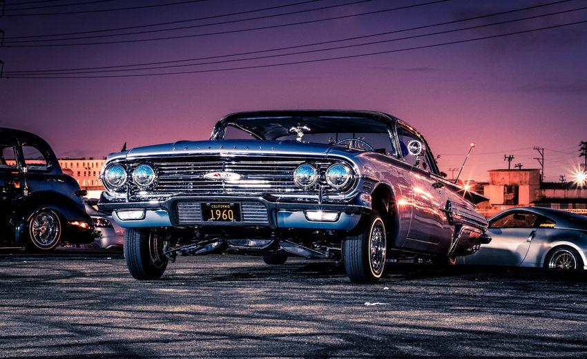 Car against blue sky