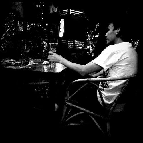 drinking at