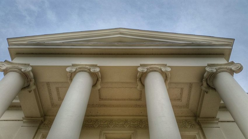 Pediment Hylands House Pórtico Columns Architectural Detail Chelmsford Ionic