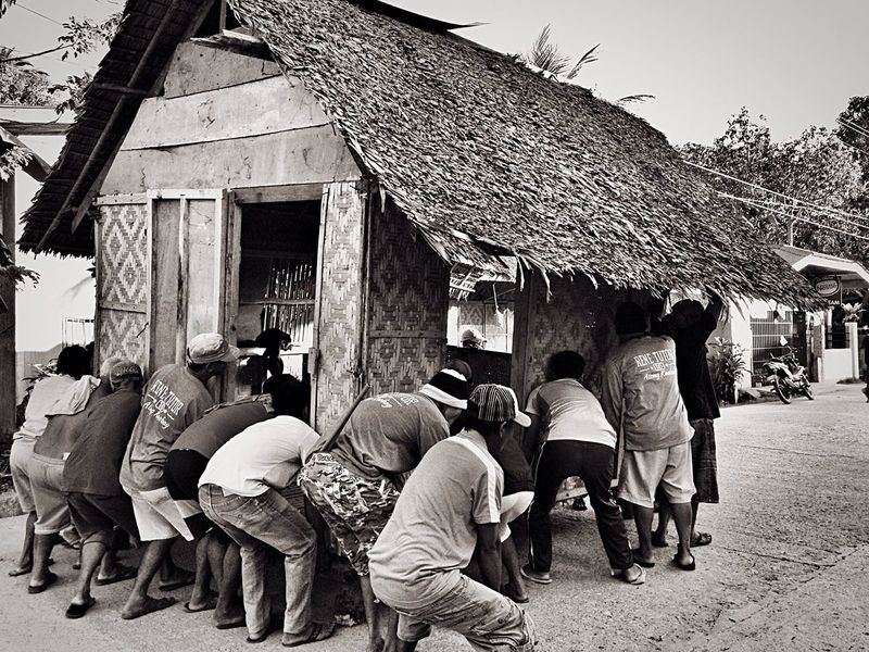 Bayanihan Filipino Pride✌ Culture Values Helping Each Other Lend A Hand Bahay Kubo Nipa Hut Strong Men Carry Load Group Lucky Shot Proudly Filipino IPhone Photography Eyeem Philippines