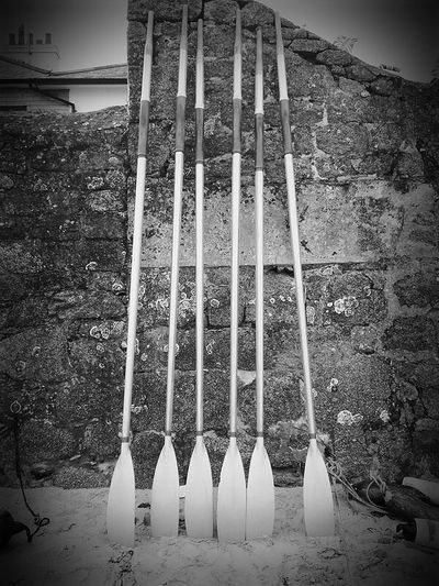 Gig oars,scilly 2010 Pattern No People Day Outdoors Gig Racing Isles Of Scilly Nautical Vessel Beach Blackandwhitephotography Oars Scillyisles