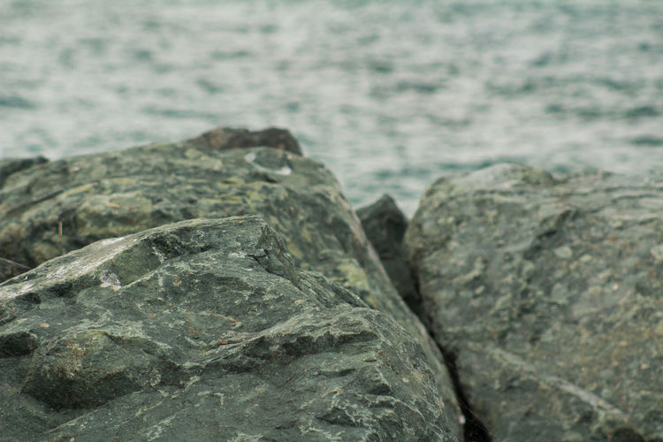 Sea Rocks Close-up Day Focus On Foreground Nature No People Outdoors Rock - Object Sea Water Lost In The Landscape