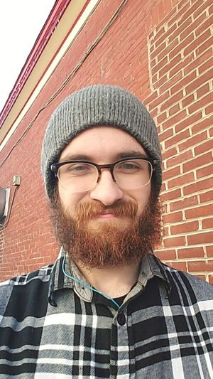 Gay Self Portrait Ginger Flannel Only Men Front View Young Adult Adult Adults Only One Man Only Portrait Hipster - Person Beard Knit Hat Outdoors Eyeglasses  Men Day