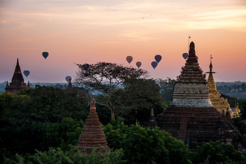 Dawn in bagan - myanmar