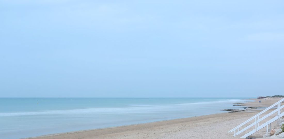 Rota Beach Sea Sand Horizon Over Water Water Tranquil Scene Wave Beauty In Nature Landscape Blue Nature Scenics
