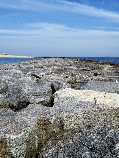 Hidden Gems  Ocean Rocks Path Path To Ocean Japan Gamagori, Japan Blue Blue Sky Blue Ocean Gray Rocks Ground View