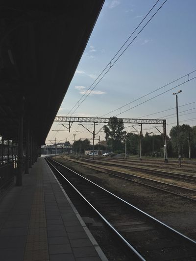 #tracks #platform #railwaystation Rail Transportation Track Railroad Track Transportation Sky Mode Of Transportation Railroad Station Platform Public Transportation Railroad Station Nature Cable Electricity  Built Structure Architecture Outdoors Travel No People Diminishing Perspective Connection Day