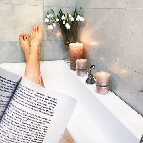 Flower Human Body Part Table Vase Indoors  One Person barefoot Low Section Human Hand Day Home Interior Human Leg Real People People Water Freshness Close-up