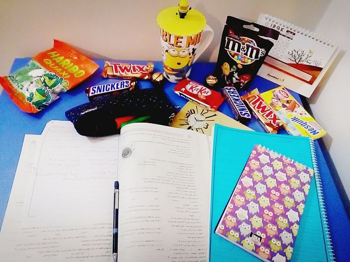 Studying Chocolate Exams Tea Addiction Chocolate Time Chocolate Porn M&m Haribo Yummy Books