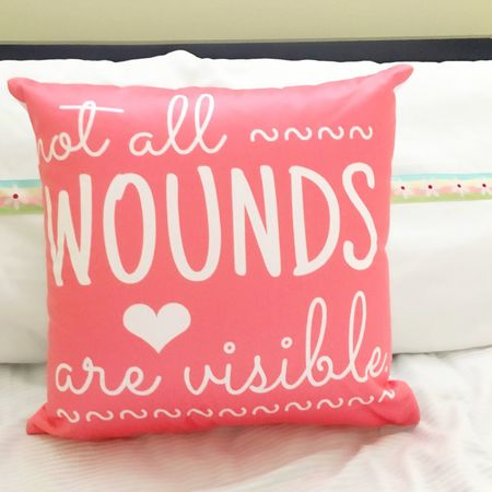 Not all wounds are visible pillow Not All Wounds Are Visible Mentalhealth  Mental Illness Matters Too Mental Health Awareness Ptsd Awareness Ptsd Pretty Crazy Stigma Pillow