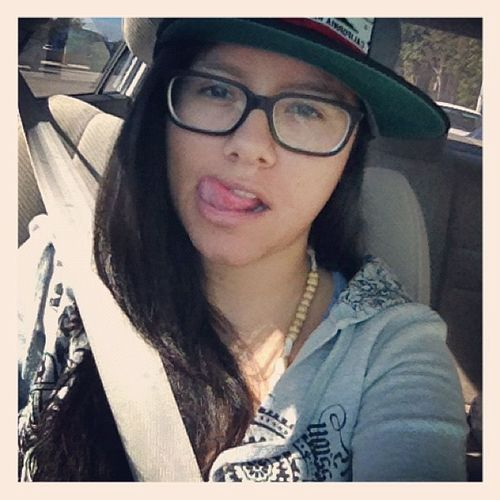 Cuz when my hair is straight I become a camera whore Straighthair Dontcare Driving CaliReppin ilovestraighthair camerawhore idgaf snapbacks 4eyes instamood
