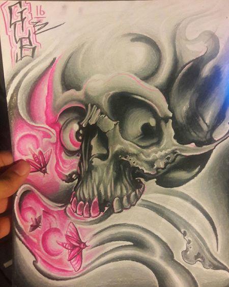 Art Art Art And Craft Close-up Creativity Place Of Worship Temple - Building Person Culture Day Limb Tatoo Art Tattoo Design Tattoos Tatttoo Artist Tattoo Tattttted ;) Skull Fireflys. Skull Art Skullhead Skull Tattoo