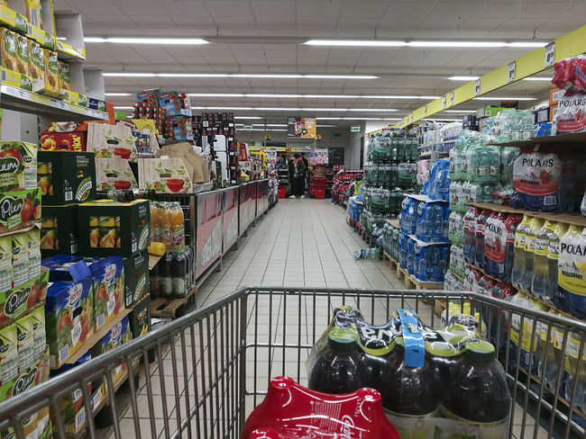 The morning shopping Customer  Indoors  Large Group Of Objects Market Multi Colored No People Retail  Shopping Store Supermarket Variation