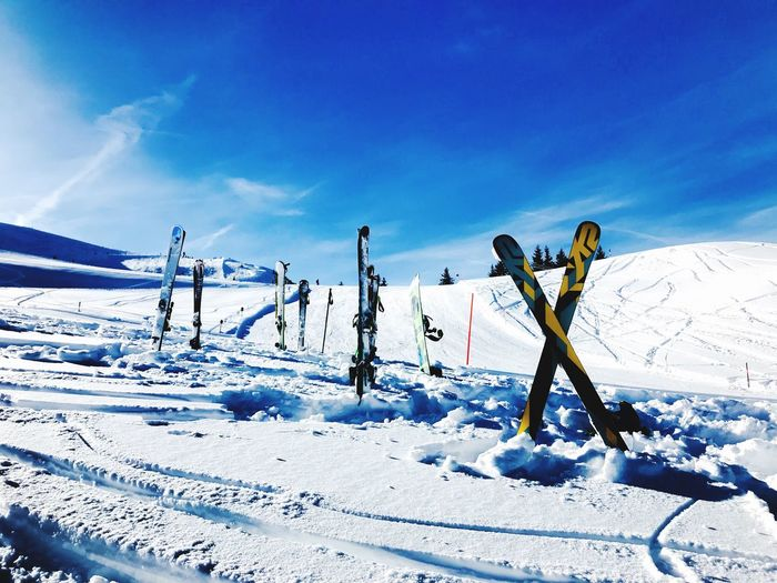Skiing Time in Kitzbühel EyeEm Selects Snow Winter Cold Temperature Weather Nature Sky White Color Frozen Ski Holiday Ski Pole Outdoors Day Sunlight Beauty In Nature Winter Sport Blue Mountain Ski Lift
