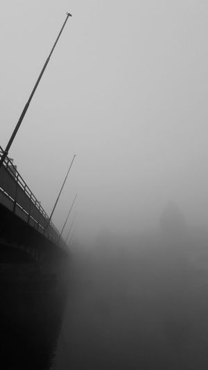 Fog Silhouette No People Outdoors Nature Day Atmospheric Mood Tranquility Bridge - Man Made Structure Foggymorning Transportation Flagstaff Constance Lake Constance