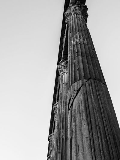 Low Angle View Architecture Sky Clear Sky Built Structure Building Exterior No People Tall - High Day Copy Space Nature Wood - Material Architectural Column Tower Outdoors History The Past Building Pattern Religion
