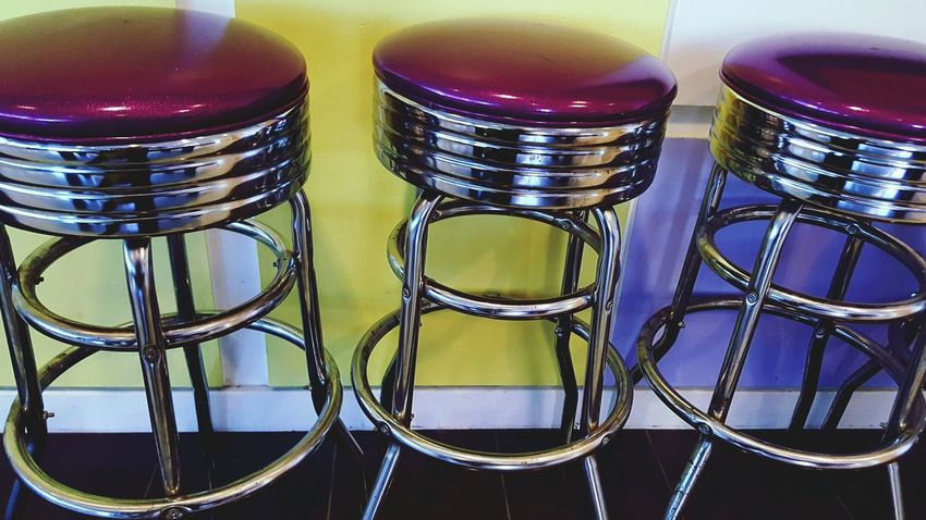 No People Multi Colored Table Indoors  Shiny Close-up Day Stools Stool Bar Stools Purple