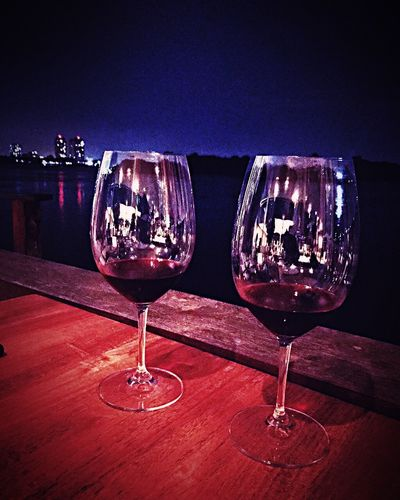 The romance riverside. The Deck River View Wines Love ♥