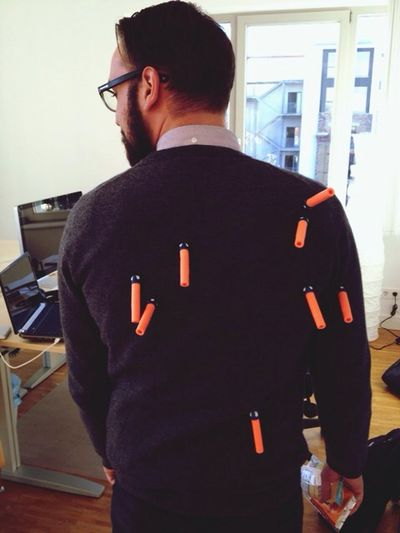 Jan In A suit of Nerf .