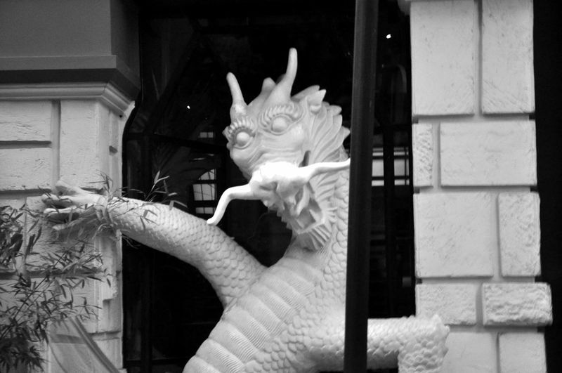 B&w Photography City Life Cityscapes Day Door Doorway Dragon No People Smile Wats Up White